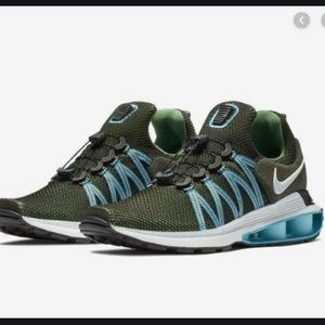 NWOB Nike SHOX GRAVITY Sequoia - Light Blue Fury